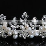 Lovely style small rhinestone flower pearl beauty headband for party