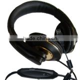 Over-the-head USB/3.5mm Connectors Wired Headset Headphone With Boom Microphone For PS3/Slim PC