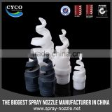 Plastic fogging cannon spiral jet spray nozzle