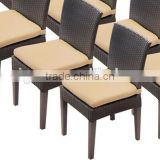 2017 Trade Assurance hot sale cane meeting room used banquet pe rattan cheap armless chairs furniture