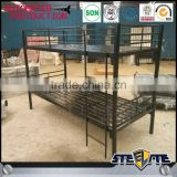 Top quality strong black color cheap metal military bunk beds wholesale