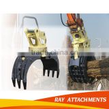Hydraulic Excavator Rotating Log Grapple for Excavator used