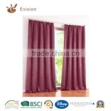 home textiles 2016 new design eyelets and tape blackout curtain,decorated curtain,window curtain with high quality tested