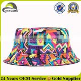 2015 fashion unisex cotton fishing colorful cheap printed blank wholesale custom bucket hat