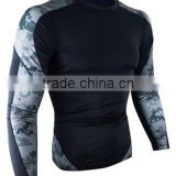 martial camo rash guards sublimated polyester spandex rash guards ceramic yarn rash guards UPF 50