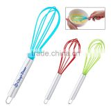Whisk - features stainless steel handle, rubber whisk and comes with your logo