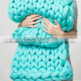 100%Poly Giant Chunky Knitted Throw Blanket