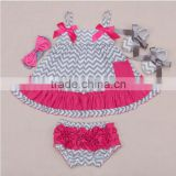 Baby Girl Infant 4pcs Clothing Sets Suit inf