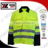 Wholesale OEM Service EN20471 Standard High Visibility 3M Reflective Safety Jacket Used In Railway