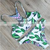 Top selling new design mature women printting bikini wholesale