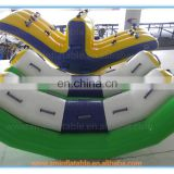Factory price giant inflatable banana float,banana boat for water game to sale
