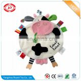 Friends comforter tag baby activity toy fancy blankie cow