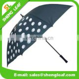 custom logo straight double layer windproof golf umbrella