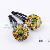 fashion crystal vintage alloy flower hair clip