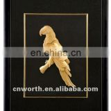 Arts And Crafts Handmade Gold Picture Frames With Vivid Bird Antique Gold Leaf Frame Wall Mirror no MOQ