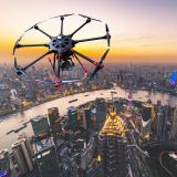 Aerial survey uav mapping inspection police drone with camera and GPS