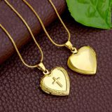 18K GOLD PLATED CUSTOM CROSS HEART PENDANT
