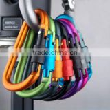 Popular Hot Sell D-ring Snap Spring Hook Carabiner Lock Clip Keychain Climbing Backpack