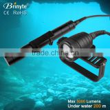 New Arrival DIV09W 3000 Lumen xhp70 Underwater Video Flashlight