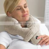 MICRO FLEECE VIBRATING Soft MASSAGING NECK PILLOW COZY WRAP Multifunction Travel Pillow