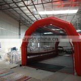 25 feet Red color 100% air sealed Durable PVC tarpaulin baseball Inflatable Batting Cages for sale