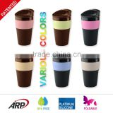 350ml/12oz new products 2016 Foldable Silicone Coffee mug