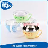 China manufacturer kids stainless steel baby salad bowl with lid