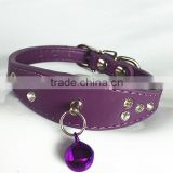 Wholesale cat and dog pet products diamond bell dog collars