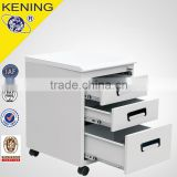 3 drawer steel workstation mobile pedestal cabinet