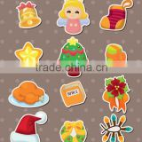 2013 Cartoon fashion promotion pvc sticker christmas sticker wrap around bottle sticker labelling machine
