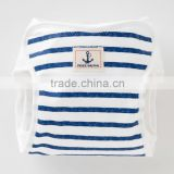 Japan wolesale cotton 100% cute and high quality oem baby diaper with border and anchor patch for boys
