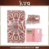 Best selling customized pattern silk printing pu wallet case for LG G3 Mini