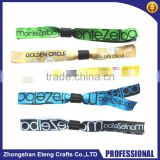 Fashion disposable woven wristbands,Custom event woven Wristband with slide lock                                                                         Quality Choice