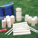 solid wood garden games wooden kubb set for kids ,miking game set with factory price