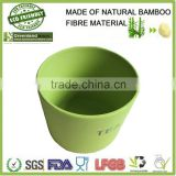 Top products hot selling round canister with wooden cover,bamboo fiber food storage box