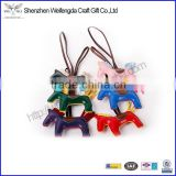 custom cheap bulk animal horse keychain leather Chinese factory wholesale supply