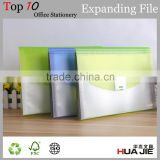 Expanding file case A4 size document case with plastic lock