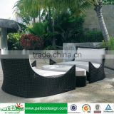 Garden chaise high quality general use elegant rattan sofa lounge set