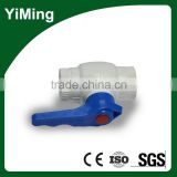 YiMing 1/4 inch plastic ball valve
