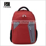 Factory direct custom logo low moq high quality high standard nylon and genuine leather laptop backpack