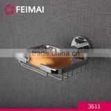 Home Decoration Wall Mounted Brass Chrome Soap Basket Dish