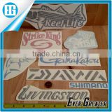 Fishing DECALS STICKER vinyl lure reel rod hook tackle box tug canoe boat fly