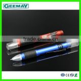 Hot selling aluminum light tip ball pen with led lights