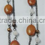 Fashion necklace white jade round beads necklace jewelry Fashion necklace white jade round beads necklace jewelry