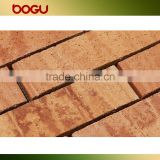 Wooden texture ceramic outdoor clinker tile wall cladding cheap wholesale china clinker wall tile brick small panel 60x240mm