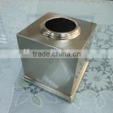 high quality stainless steel tissue box silver metal paper tissue holder cover containers