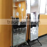 stable stainless steel base 360 degree rotating full length floor stand dressing mirror