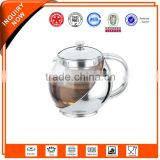 pyrex stainless steel teapot glass