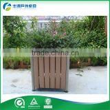 HDPE/WPC/PS recycling plastic wood planter box shenzhen direct manufacturer flower pots for garden decoration