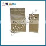 Factory price square bottom Kraft paper bag for tea packing